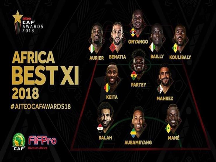 يتصدرهم صلاح.. ثلاثي عربي في تشكيل نجوم أفريقيا 2018