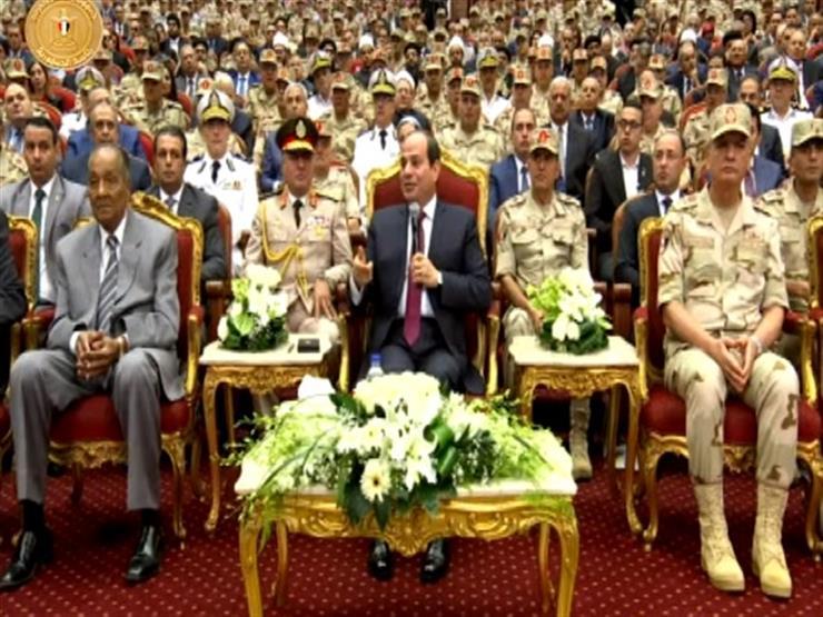 السيسي عن المشير طنطاوي: رجل عظيم قاد مصر في أصعب الفترات