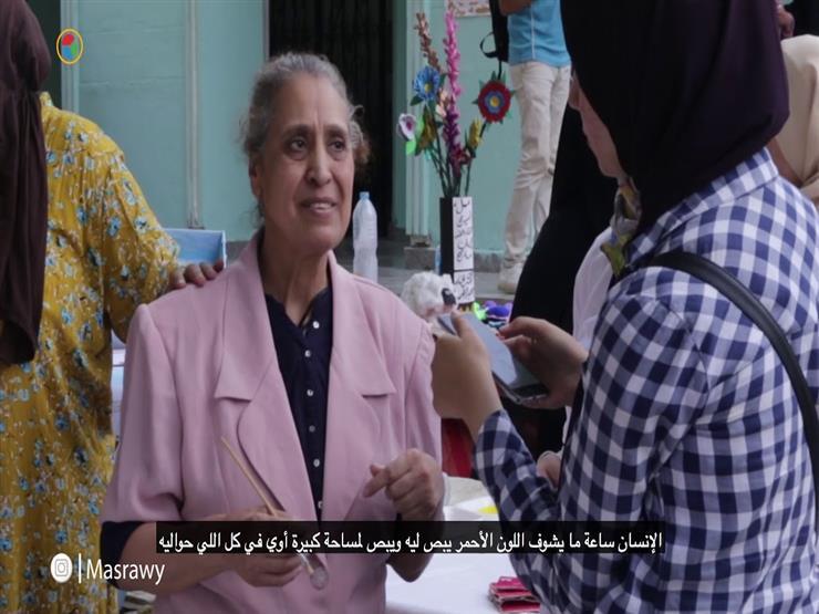 """من داخل مستشفى العباسية.. سامية بفرشتها: """"الفنون مش جنون"""""""