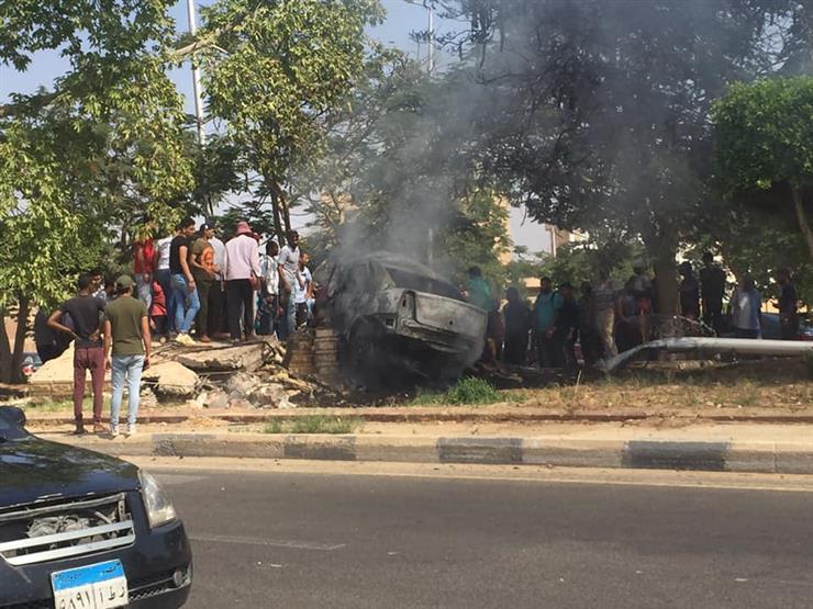 """السيارة تحولت لـ""""كتلة نار"""".. السرعة الزائدة وراء حادث الشروق"""