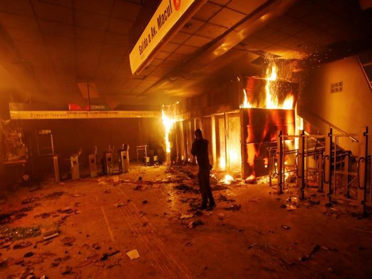 فرض حظر التجول مجددًا وسط استمرار الاحتجاجات العنيفة في تشيلي