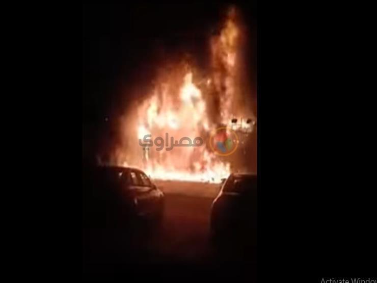 تفحم 4 أشخاص و3 مصابين في حريق سيارة بالشروق