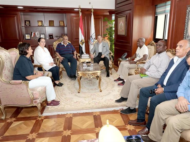 محافظ بني سويف يستقبل وزير الزراعة ووفد الصندوق الدولي للتنمية