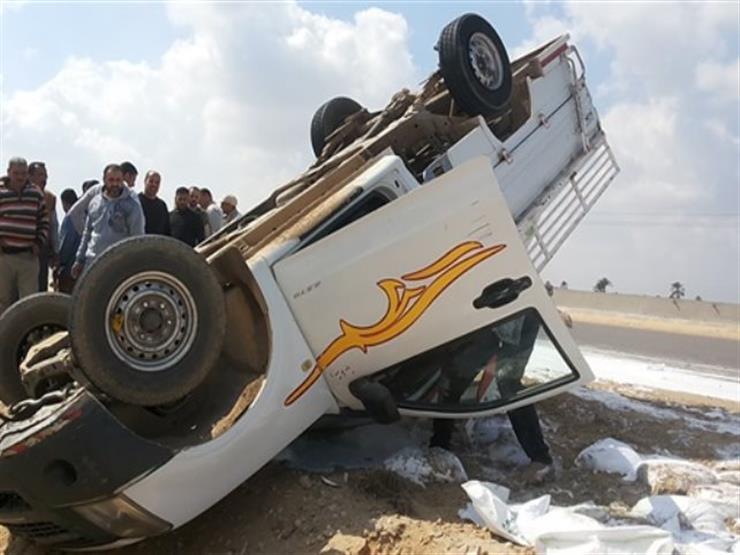 مصرع وإصابة 6 أشخاص في حادث سير ببورسعيد
