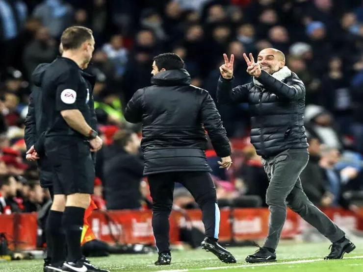 """بالفيديو.. """"غضب الفيلسوف"""".. جوارديولا يخرج عن شعوره بسبب حكم ليفربول وسيتي"""