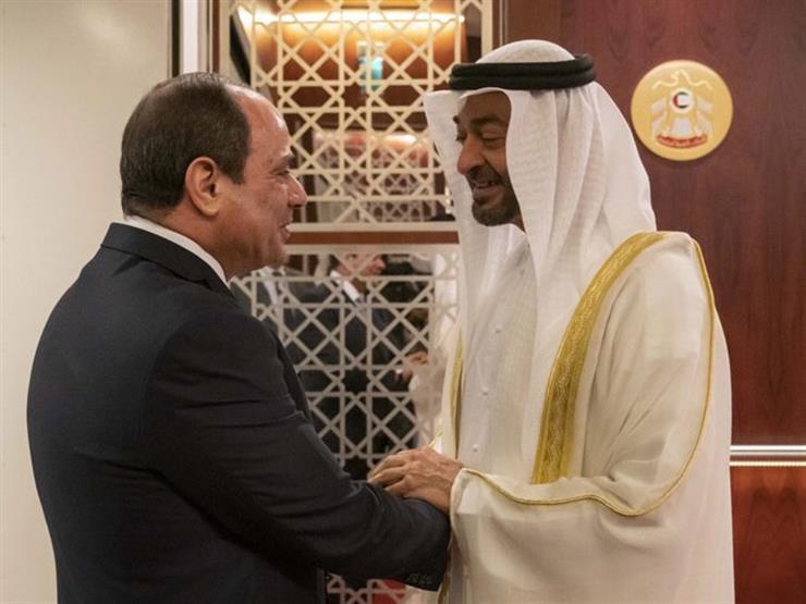 """السيسى يعبر لرئيس الإمارات عن امتنانه لمنحه """"وسام زايد"""""""