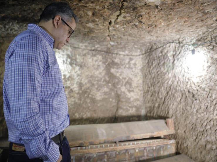 وزير الآثار يتفقد الكشف الأثري الجديد بسقارة