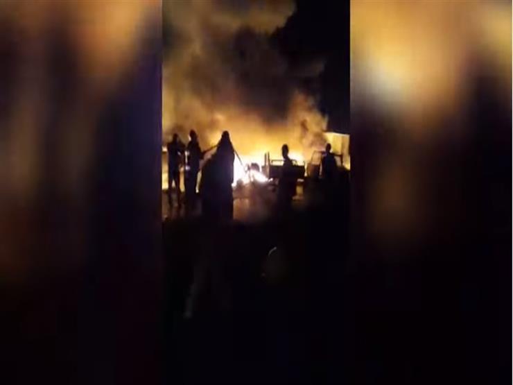 فيديو جديد للحظة اندلاع حريق إيتاي البارود