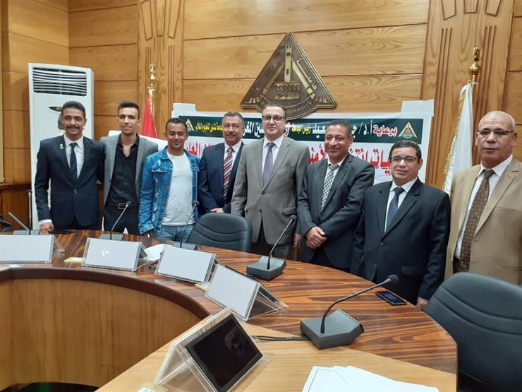 فوز الطالب محمد زكى برئاسة اتحاد طلاب جامعة بنها