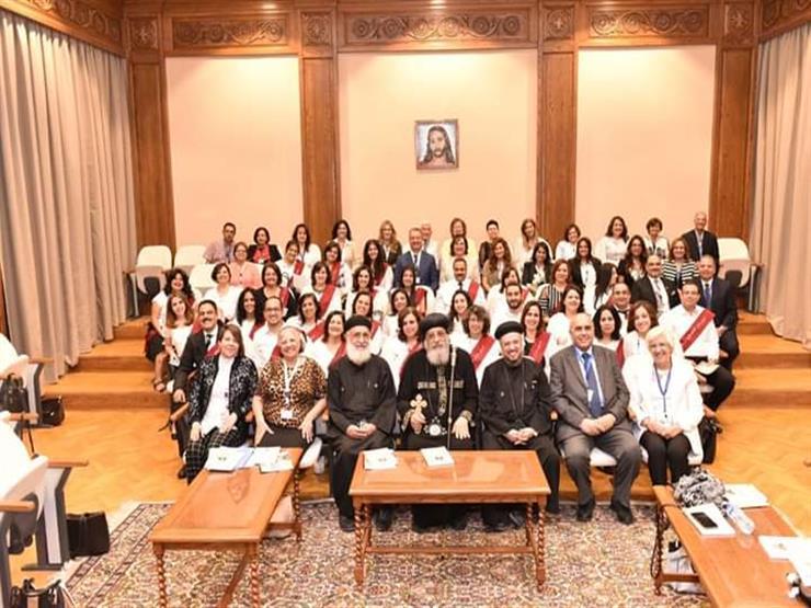 البابا تواضروس يشهد حفل تخرج الدفعة 14 من معهد المشورة بأرض الجولف