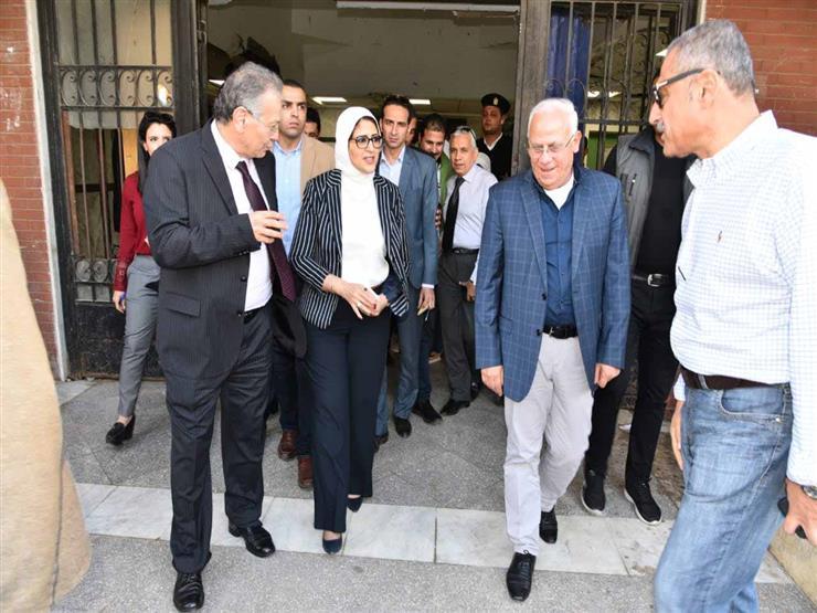 وزيرة الصحة تتفقد مستشفى الرمد ببورسعيد