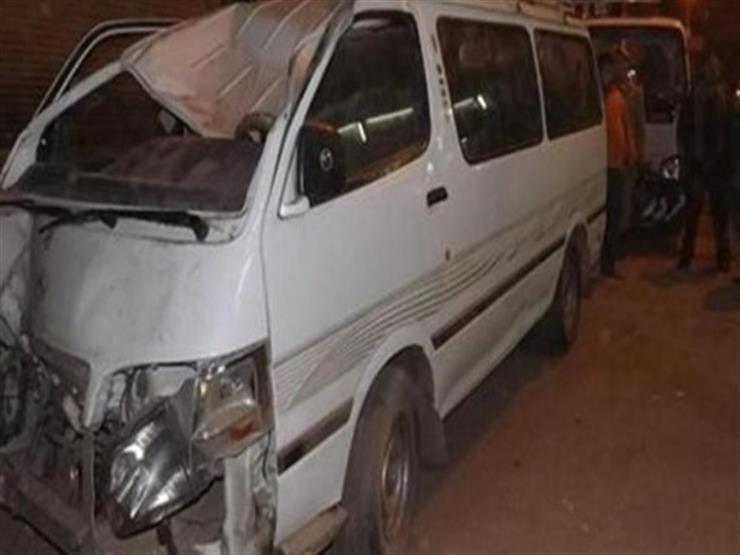 إصابة 10 طلاب في انقلاب ميكروباص بالمنوفية