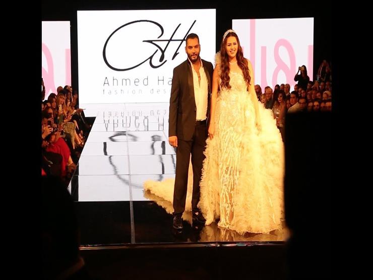 بـ٨ ملايين جنيه.. هنادي مهنا بفستان زفاف مرصع بالألماس