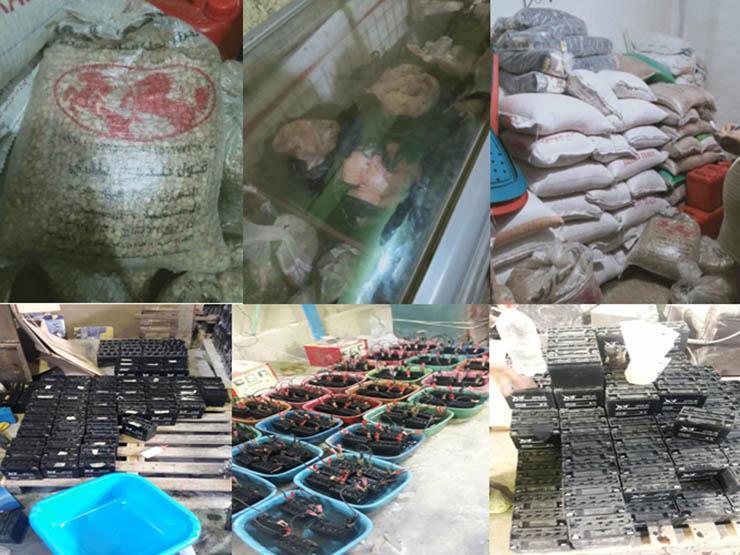 """""""أمن القاهرة"""": ضبط 25 طن مواد غذائية مجهولة المصدر بحلوان والساحل وحدائق القبة"""