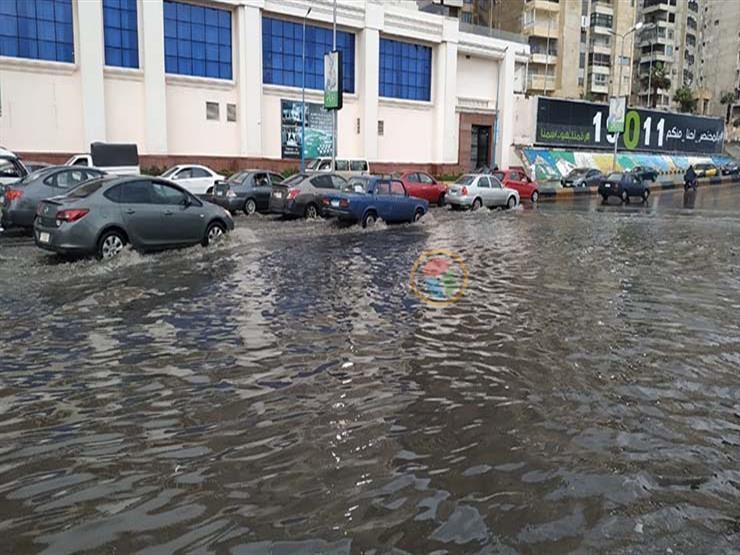 خلال النوة الأخيرة.. 2.5 مليون متر مكعب أمطار سقطت على الإسكندرية