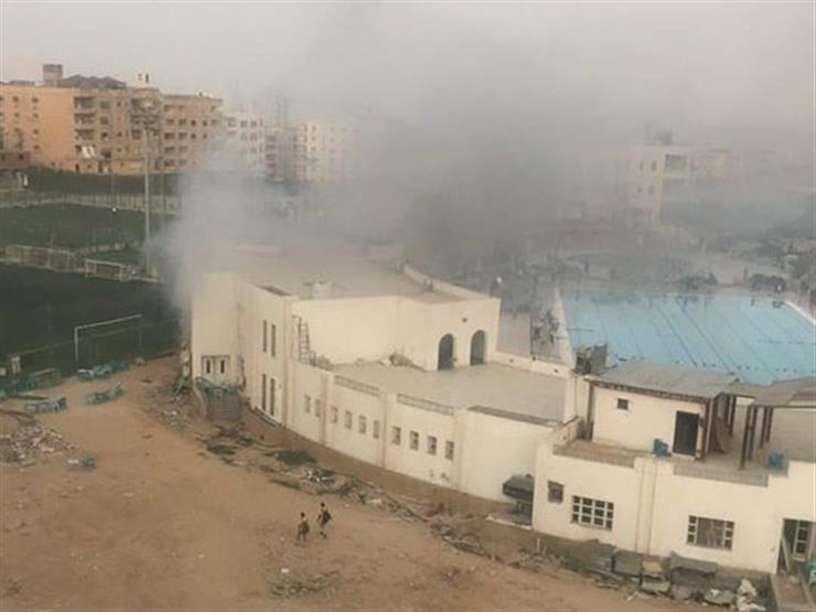 حريق محدود في نادي حدائق الأهرام دون إصابات