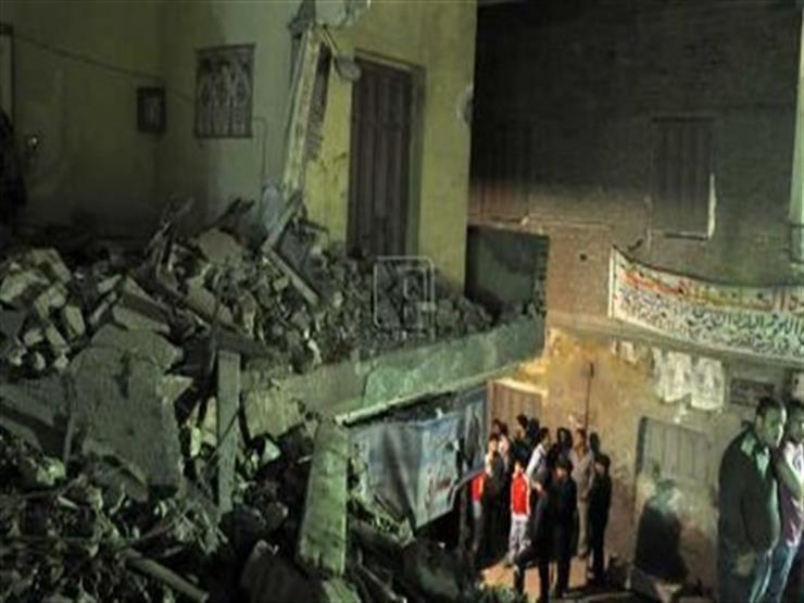 إصابة ربة منزل في انهيار جزئي بمنزل في بني سويف