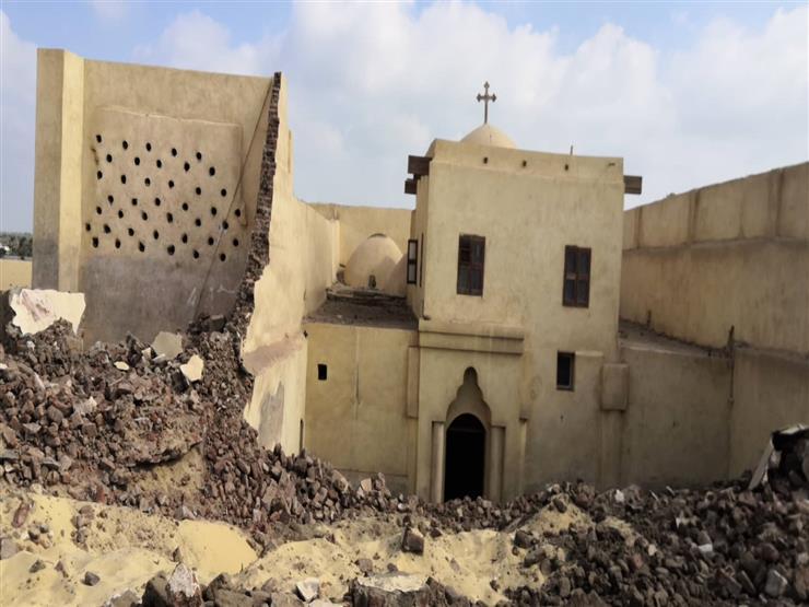 أول بيان من مطرانية ملوي حول انهيار سور كنيسة دير أبوفانا ووفاة 3 أشخاص