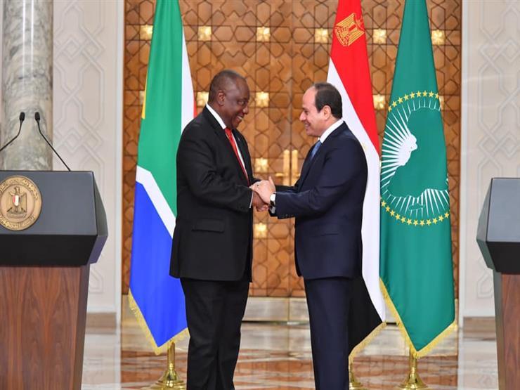 السيسي ونظيره الجنوب أفريقي يبحثان تطورات القضية الليبية