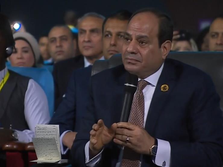 """السيسي: ليبيا والسودان أمن قومي لمصر.. وندعم الجيش الوطني بقيادة """"حفتر"""""""