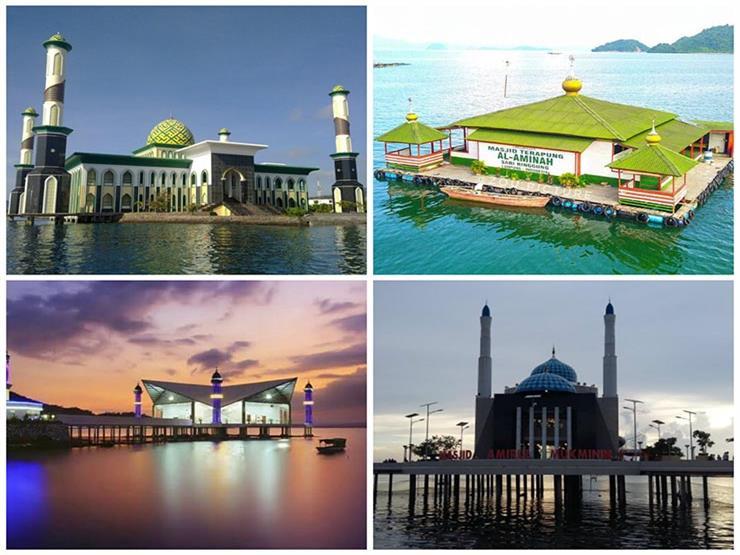 بالصور| أجمل خمسة مساجد عائمة في إندونيسيا.. أحدها تصدى لـ تسونامي