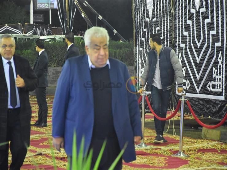 عبدالعال وبكري وشخصيات عامة في عزاء شقيقة مرتضى منصور صور مصراوى