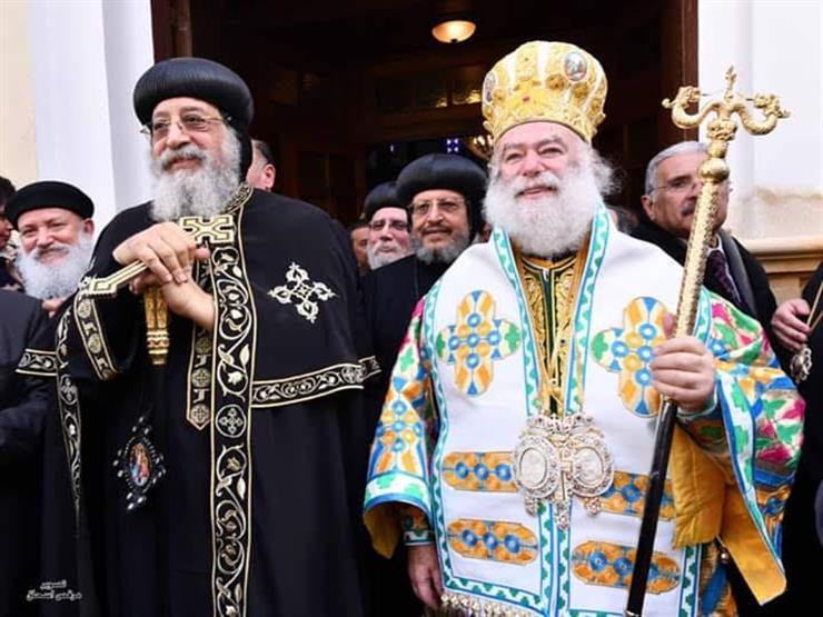 البابا تواضروس يهنئ بطريرك الروم الأرثوذكس بعيد الميلاد