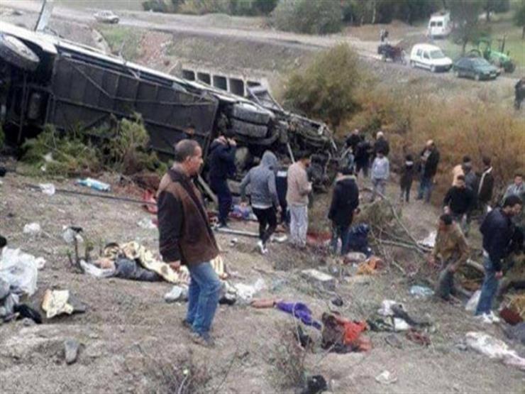 29 قتيلاً و17 مصابًا بينهم ستة في حالة حرجة حصيلة انقلاب حافلة في تونس