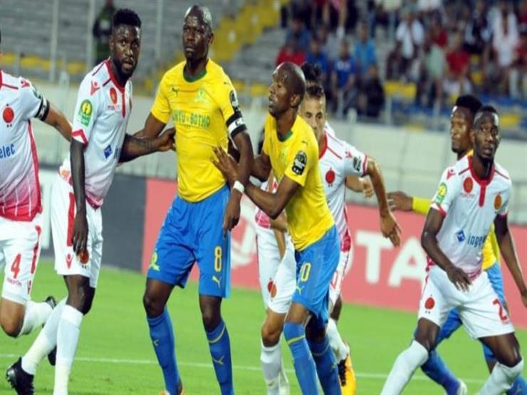 """بالفيديو.. هدف """"ملغي"""" مثير للجدل بدوري أبطال أفريقيا يشعل مواقع التواصل الاجتماعي"""