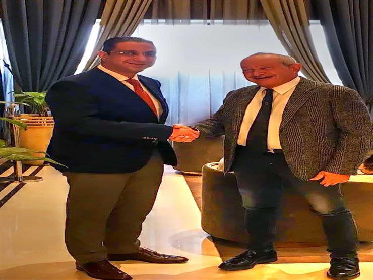 """محافظ سوهاج يبحث مع """"ساويرس"""" إقامة مشروعات تنموية بالمحافظة"""