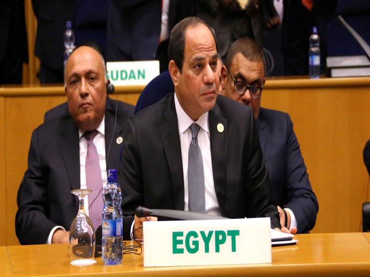 """الرئيس السيسي يشهد الجلسة المغلقة الثانية لـ""""القمة 32"""" للاتحاد الأفريقي"""