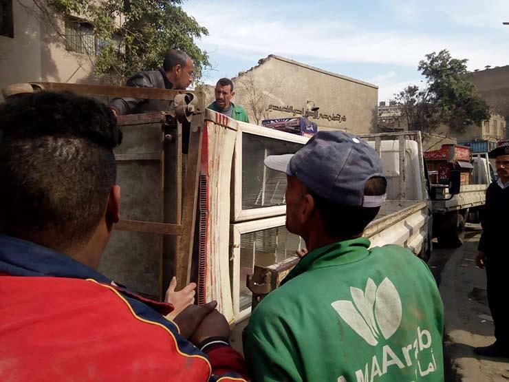 الأمن يتصدى لإشغالات المنطقة الأثرية في الهرم