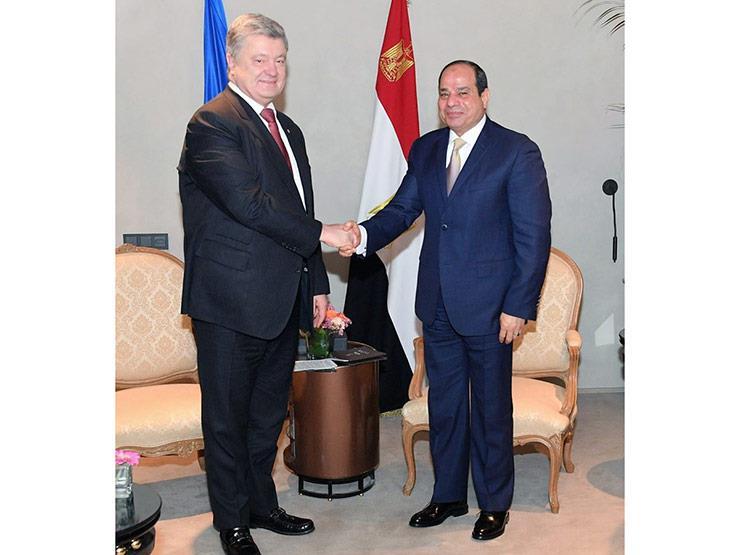 """""""مصر مُنفتحة على مزيد من التعاون"""".. تفاصيل لقاء السيسي ونظيره الأوكراني"""