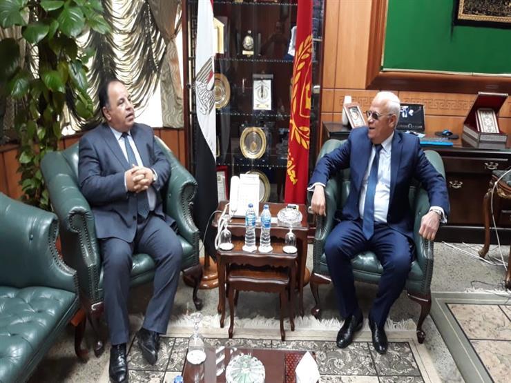 وزير المالية يناقش منظومة التأمين مع محافظ بورسعيد
