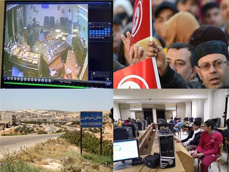 حدث ليلًا| سطو مسلح في الجيزة وأمطار بالدلتا وقصف سوريا واحتجاجات تونس