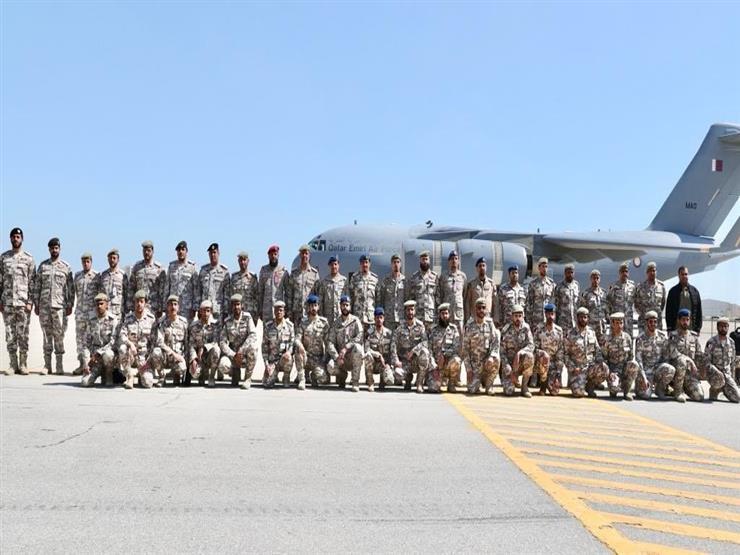 قوة عسكرية قطرية تصل السعودية لبدء تمرين مشترك