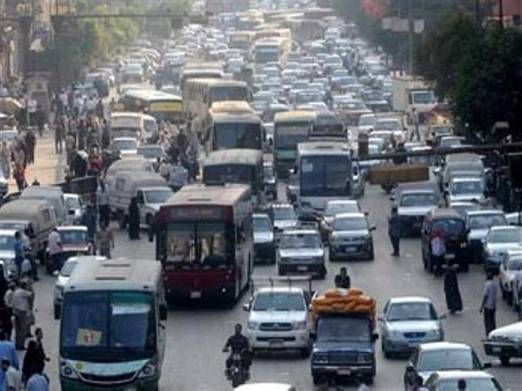 المرور: كثافات مرورية أعلى كوبري أكتوبر وشارع رمسيس
