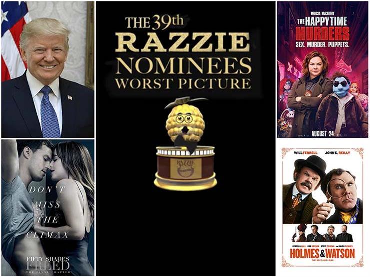 """ترامب أسوأ ممثل بفيلم وثائقي.. """"التوتة الذهبية"""" تكشف عن قائمة جوائزها لـ 2018"""