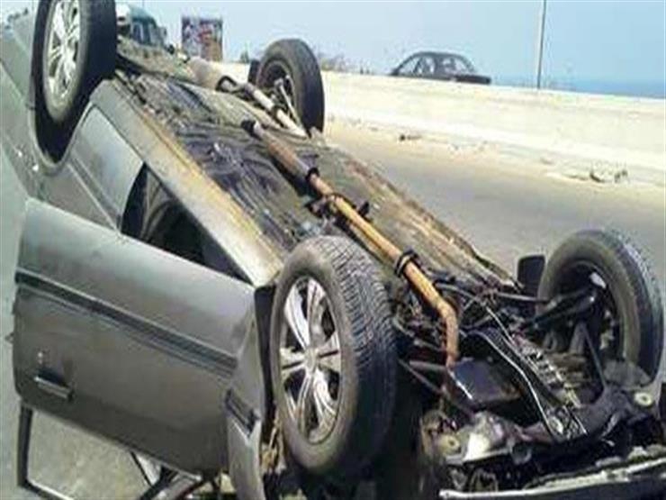 إصابة 6 أشخاص في انقلاب سيارة ملاكي ببني سويف