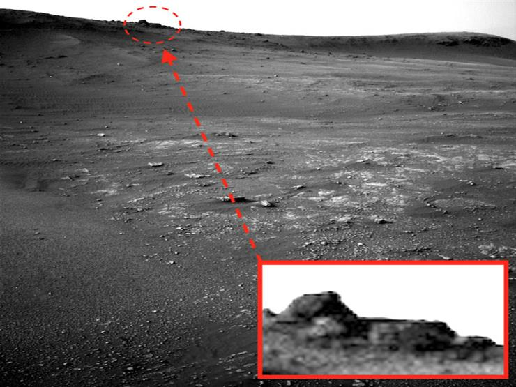 بالصور.. هل عثرت ناسا على هرم معبد الغرباء فوق كوكب المريخ؟