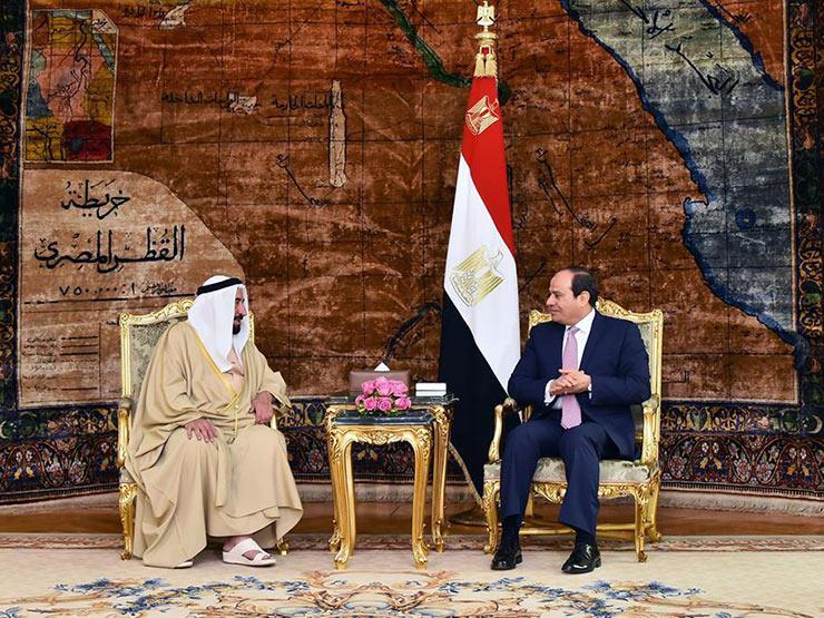السيسي: نعتز بمبادرات حاكم الشارقة الداعمة لمصر