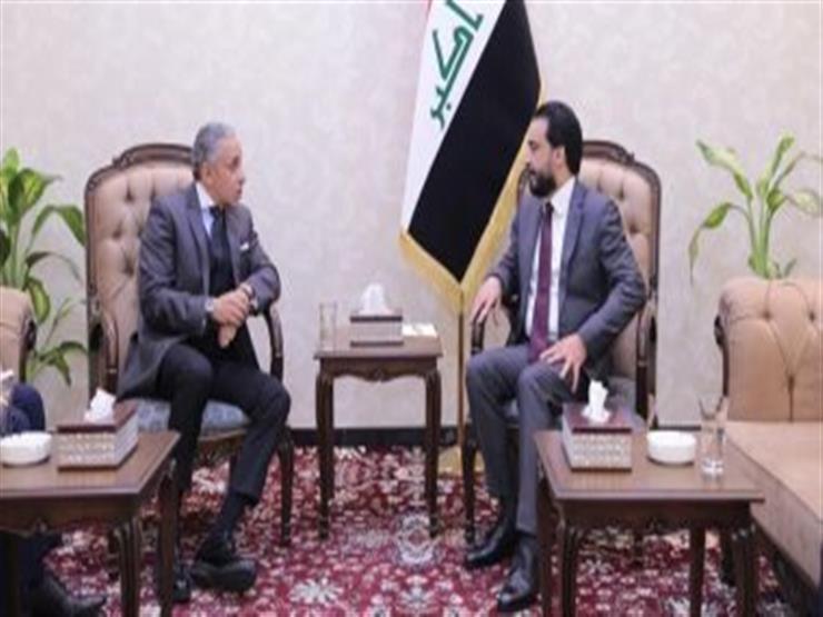 السفير المصري ببغداد يبحث مع رئيس مجلس النواب العراقي سبل تطوير العلاقات