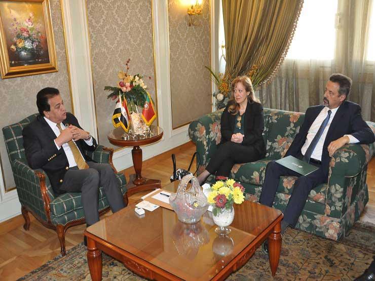 وزير التعليم العالي يبحث التعاون العلمي مع سفيرة البرتغال