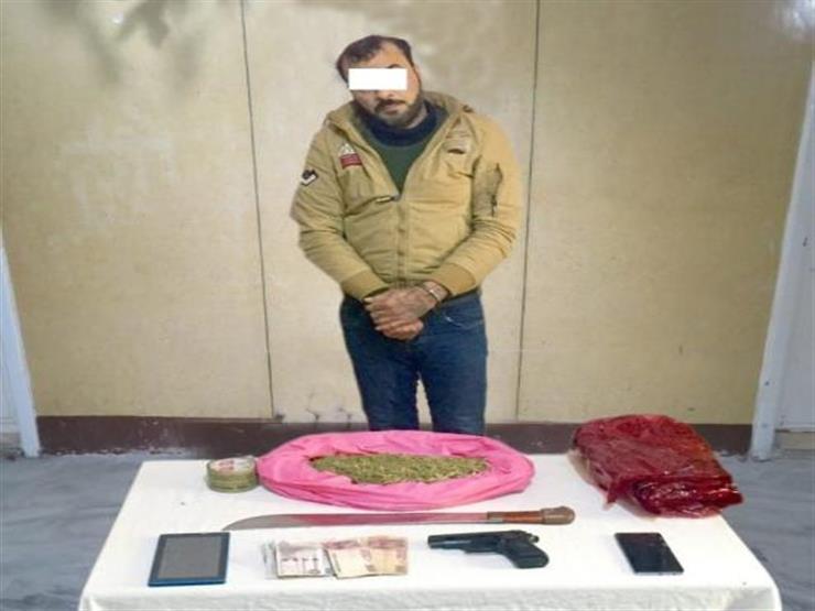 ضبط شخصين بحوزتهما قطعتين سلاح ناري وذخائر وكيلو بانجو في دمياط