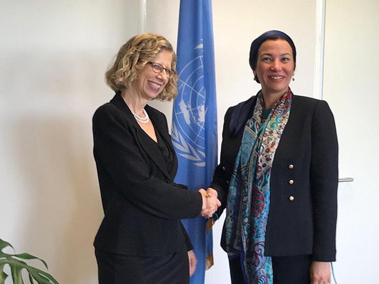 ياسمين فؤاد تجتمع برئيسة برنامج الأمم المتحدة للبيئة في نيروبي