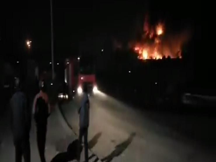 اللقطات الأولى لحريق الـ 3 ساعات في أكتوبر