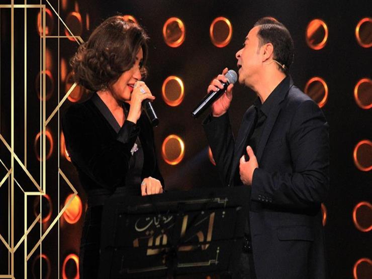 لطيفة تشارك مدحت صالح الغناء لمصر بستوديو الحكايات