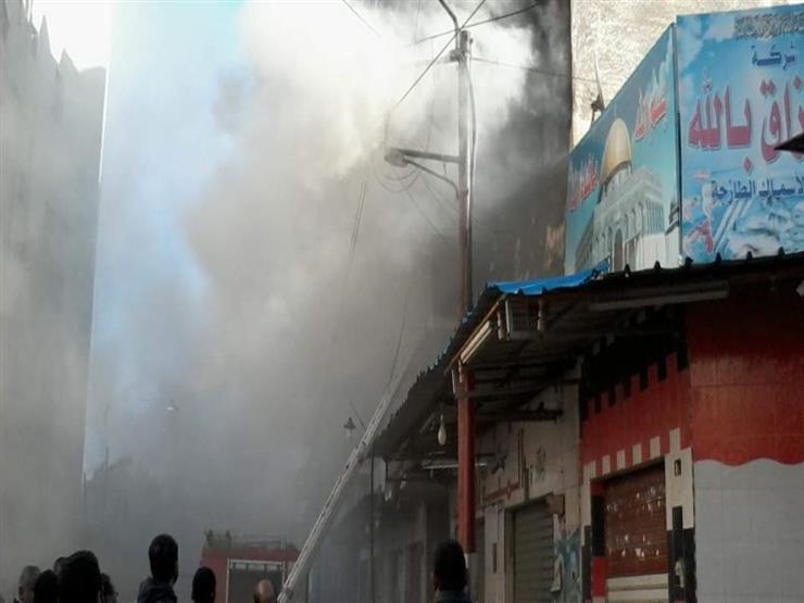 انفجار أسطوانة بوتوجاز داخل سوق في بنها