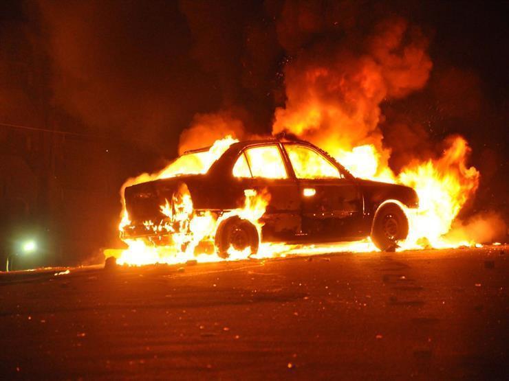 """سائق يتهم """"السماك"""" بإضرام النار في سيارته بالخانكة"""