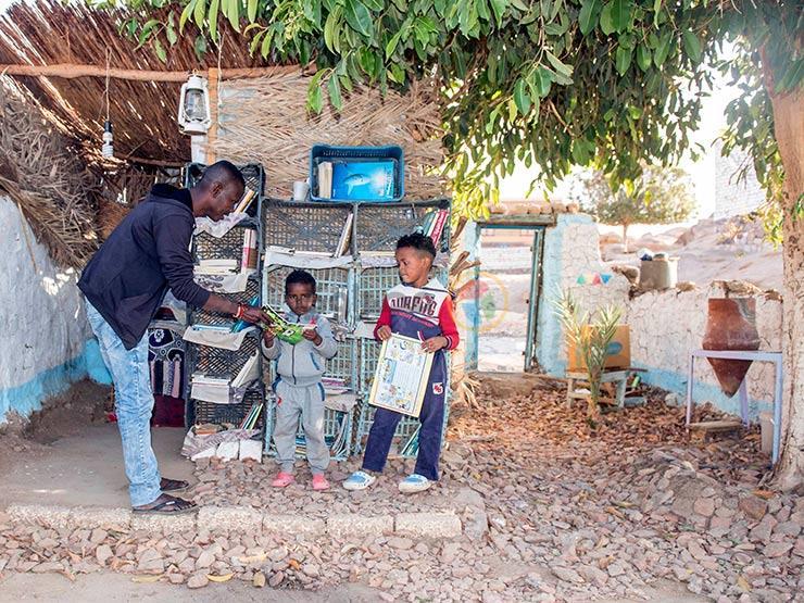 بيت البهجة.. حكاية أول مكتبة أطفال بجزيرة هيسا النوبية